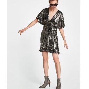 Zara sparkle dress.